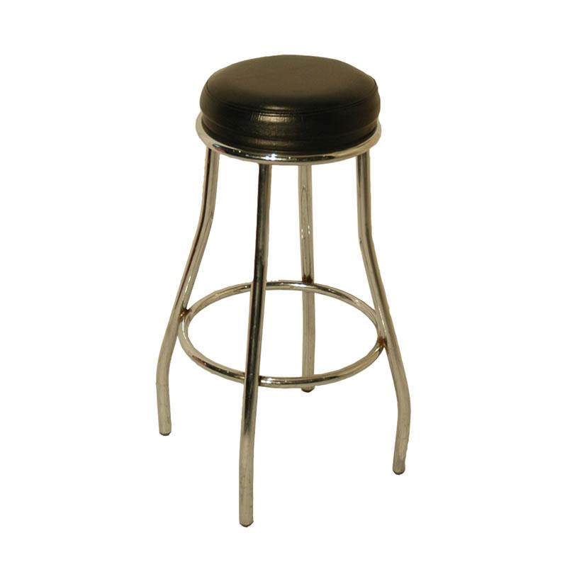 uk availability 618e2 f8673 Black Padded Bar Stool