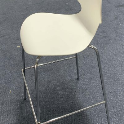 ErgoFlex White Bar Stool, bar stool hire, pattis hire
