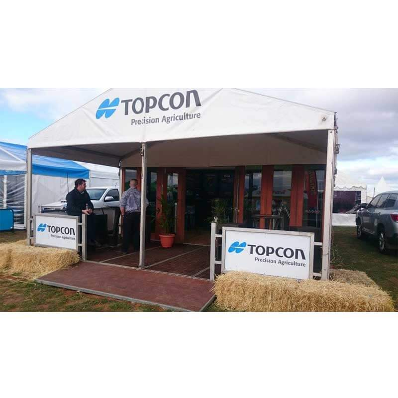 Topcon, event signage ideas, pattis hire